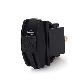 BiuZi - Cargador de Coche USB con Doble Salida USB, 12 V CC, 24 V ...