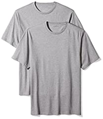 An Amazon brand - These clean tees feature heavyweight cotton construction and tag-free printed necks for all-day comfort.