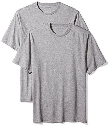 (Amazon Essentials Men's 2-Pack Loose-Fit Short-Sleeve Crewneck T-Shirts, Heather Grey, XX-Large)