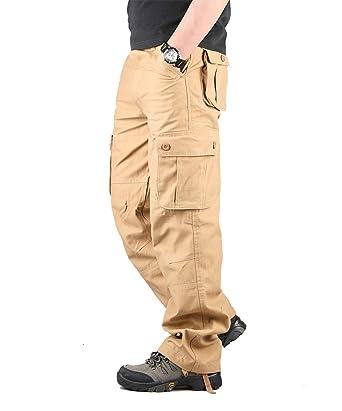 online store 35adc 1857c Hommes Pantalon Cargo Pantalon de Travail Style Militaire, Casual Pantalon  Multi Poche Cargo Sports De Combat Pantalons en Coton Home  Amazon.fr   Vêtements ...