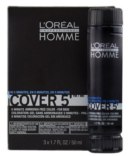 Loreal Professionnel Homme Cover 5 Hair Colour Gel - 5 Light Brown by Unknown ()