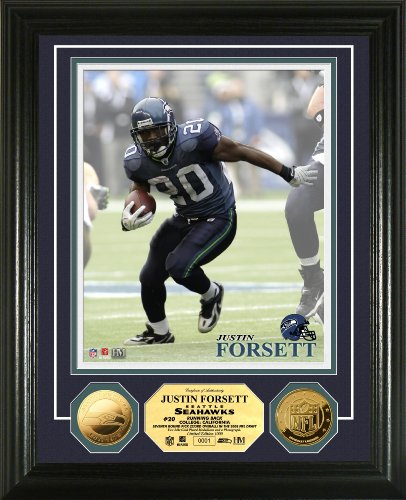 Photomint Coins Framed (Highland Mint NFL Seattle Seahawks Justin Forsett 24KT Gold Coin Photomint)