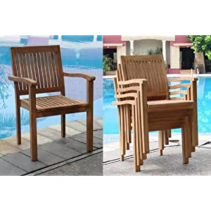 51-Ic7KFGpL._SS300_ Teak Dining Chairs & Outdoor Teak Chairs