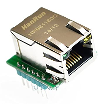 The W5500 module TCP/IP Ethernet module is compatible with WIZ820io