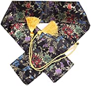Eforlife Silk Sword Bag Samurai Katana Wakizashi Tanto Sword Cover Carry Bag with Golden Tassel