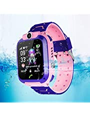 Kids Smart GPS Watch Barns säkerhetsur för barn Barnleksaker Gåva(pink)
