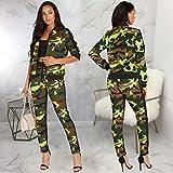 Women Plus Size Camouflage Long/Half Sleeve