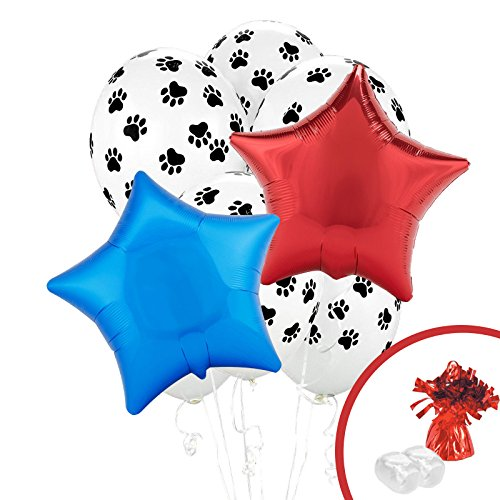 BirthdayExpress Paw Print Puppy Dog Paw-ty Party Balloon Bouquet -