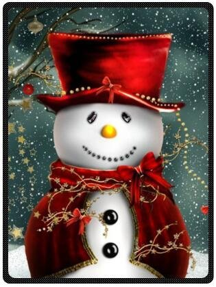 Winter Wishes Snowman Christmas