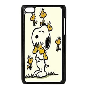 iPod Touch 4 Phone Case Black Charlie Brown and Snoopy ZHC2680871