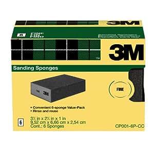 3M Sanding Sponge, Fine Grit, 6-Pack