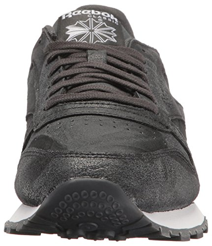 Reebok Heren Cl Leather Cte Fashion Sneaker Grind / Zwart / Wit