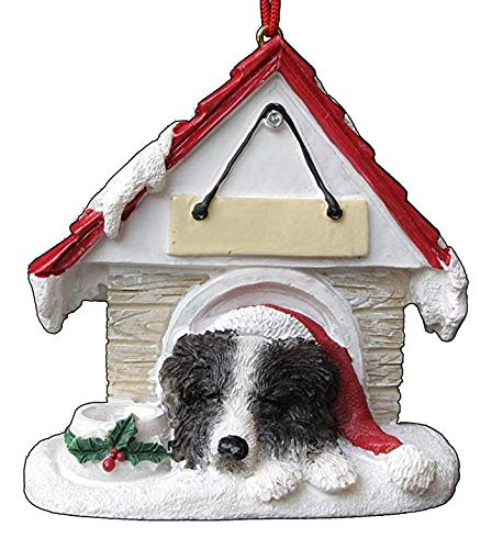 - Doghouse Ornament - Border Collie Hand Painted and Personalized Christmas Tree Ornament with Magnet (Magnetic Back)