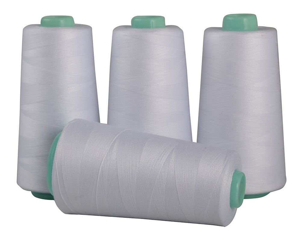 High Speed Polyester Sewing Thread 4 Cone 6000 Yards Sewing /& Quilting Use Industrial Standard Color All Purpose Thread by Secret Life 4 Cone x 6000 Yards, White