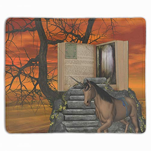 - Mouse Mat,Personalized Non-Slip Mousepad for Office Work Travel Home Dream Unicorn