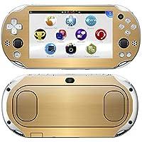 Kit Skin Adesivo Protetor PS VITA Playstation 2000 Slim (Ouro Escovado)