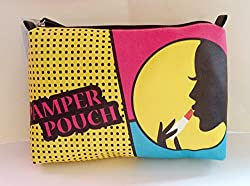 Stella & Max Cosmetics Large Beauty Makeup travel Bag Pamper Pouch with Zipper 12 X 8