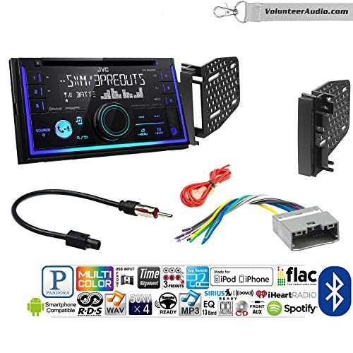 Volunteer Audio Jvc Kw R930bts Double Din Radio Install Kit With Bluetooth Usb Aux Fits 2009 2010 Ram 2011 2014 Chrysler 200 Ref Rec And Rak Factory Radios