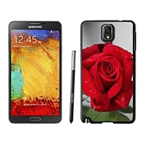 NEW Unique Custom Designed Samsung Galaxy Note 3 N900A N900V N900P N900T Phone Case With Red Rose Closeup_Black Phone Case