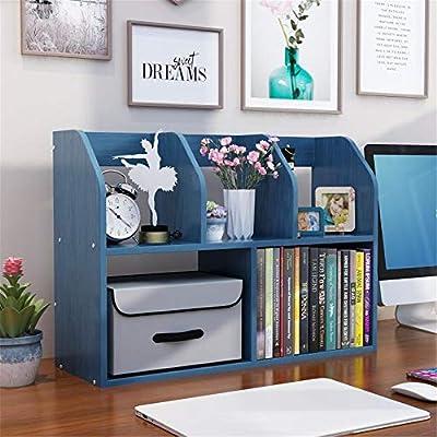 Battitachil Estante de Escritorio Ajustable Oficina for la Mesa Estantería librería y CD Home Media Titular de Rack para Oficina y hogar (Color : A2, Size : 60x20x43cm): Amazon.es: Hogar