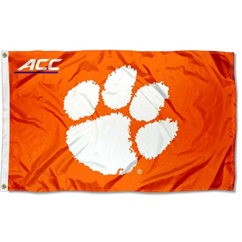 (College Flags and Banners Co. Clemson University Tigers Acc 3x5 Flag)