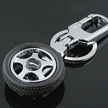 Wheel Tyre Keychain For Jagurar Car Bike 360 Rotating Key Chain