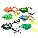 Swizze 6pcs Frog Snakeheads Bait Saltwater Freshwater Fishing Lures Bass Soft Bait