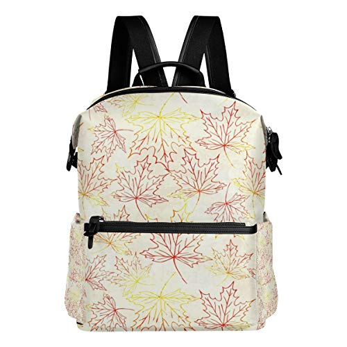 (Laptop Backpack Business Bags Water Resistant School Bookbag for College Travel Large-Capacity Backpack Gold Maple Leafs Bobblehead)