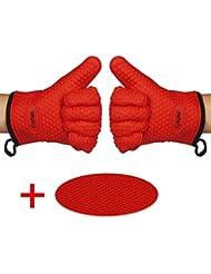 Red dress gloves dispenser