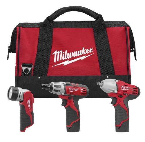 Milwaukee 2491-23 M12 12-Volt 3-Tool Combo Kit