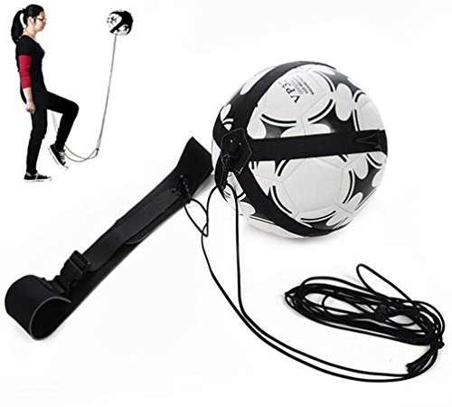 Hompr Kick Solo Soccer Trainer Hands Free- Fit Ball Size 3, 4, and (Soccer Kick Rebounder)
