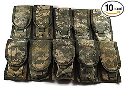 Us Army Surplus >> Amazon Com Acu Double Magazine Pouch Pack Of 10 Molle Ii Us Army