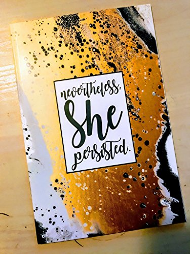 Nevertheless She Persisted Abstract Diet and Fitness Journal | 6 x 9