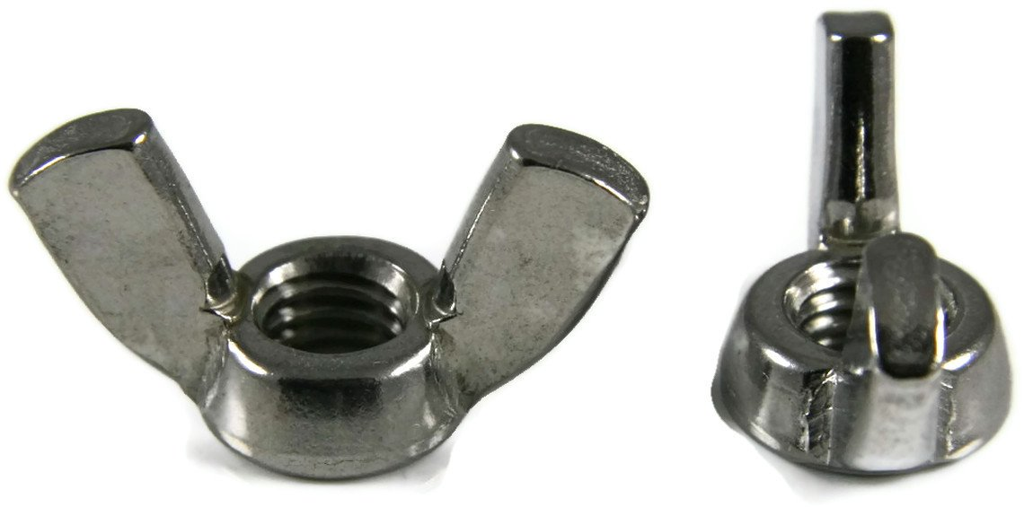 Wing Nuts A2 Stainless Steel - 12M x 1.75 (Wing Span x Height) Qty-25 by RAW PRODUCTS CORP