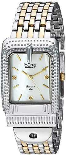 Burgi Women's Quartz Stainless Steel Casual Watch, Color Two Tone (Model: BUR171TTG)