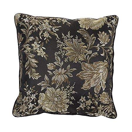 New 7-Piece Jacquard Floral Comforter Sets King,Modern Print Flower 7 piece Bedding Sets Bed-in-a-Bag King,Red//Black