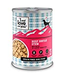 """""""I and love and you"""" Beef Booyah Stew Grain Free Canned Dog Food, 13 oz (Pack of 12)"""