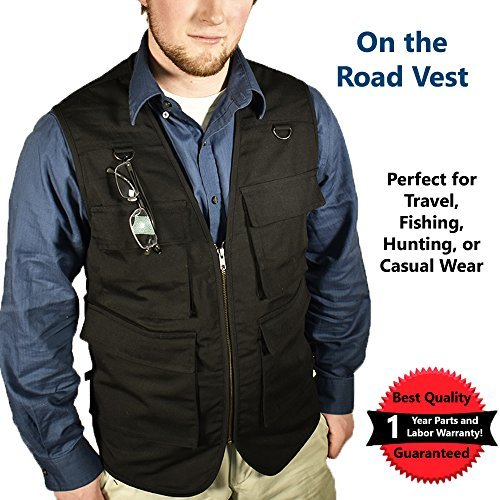 Nate's Leather Co. La aparcadores Vest| Viaje Vest| fotógrafo Vest| al Aire última Intervensión Vest| Safari Vest| Pesca...