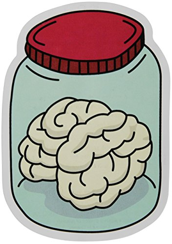 (Brain In A Jar Stickers 2-Pack of Vinyl Decals Measuring 4