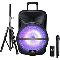 AUDSTER AUD-R115CO PROFESSIONAL Rechargeable Portable Powerful Speaker with LED Lights for SmartPhones, Tablets, & MORE!