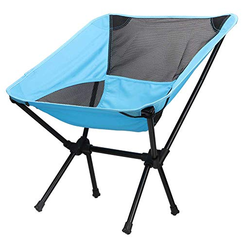 SunshineFace draagbare opvouwbare stoel lichtgewicht outdoor vissen camping wandelen strandstoel kruk blauw