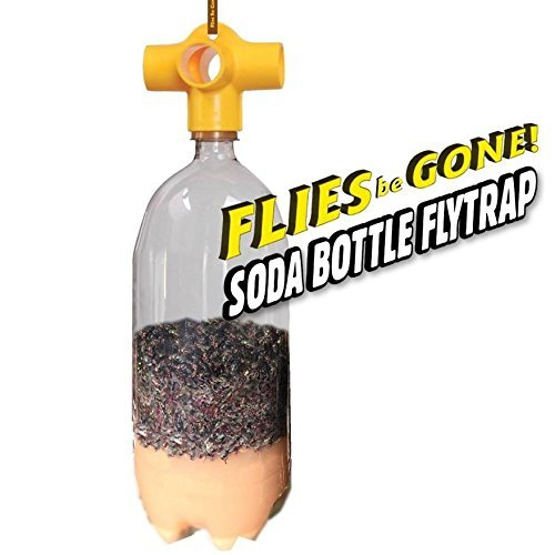 Flies Be Gone Monster SODA Bottle Fly Trap KIT(2 Pack) Reusable, 100% - Small Bottle Trap