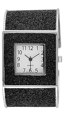 Moulin Womens Glitter Cuff Black Watch #15992.60550