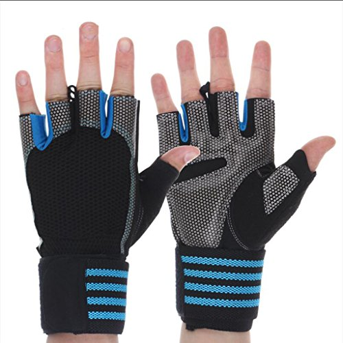 Non-slip sport breathable gloves half finger riding gloves for weight training cross training fitness (Size : XL(Suitable for palm width 9-10cm))