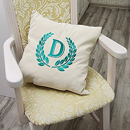 Amazon Monogram Pillow Case Name Initial Pillow Decorative Extraordinary Initial Pillow Covers