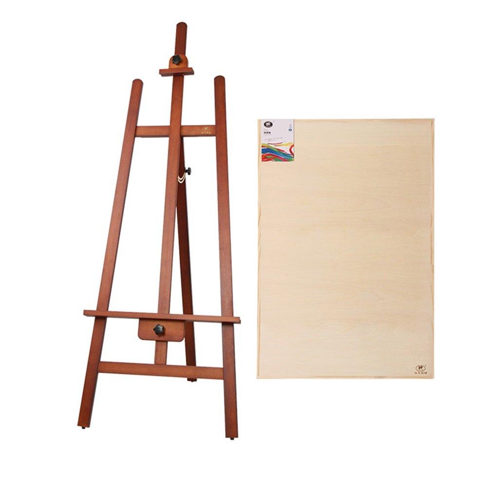 165 Cm 3色のオプション松木材イーゼルペイントシェルフソリッドウッド広告ウェディング展 (色 : ウォールナット)  ウォールナット B07MT78XH3