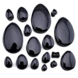 00 gauge teardrop plugs - 1 Pair of 00 Gauge (00G - 10mm) Black Obsidian Stone Teardrop Plugs / Gauges