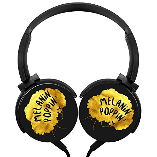 UPC 053388666337, 6Dian Melanin Poppin Beauty Afro Stereo Deep Bass Wired Headphones Earphone