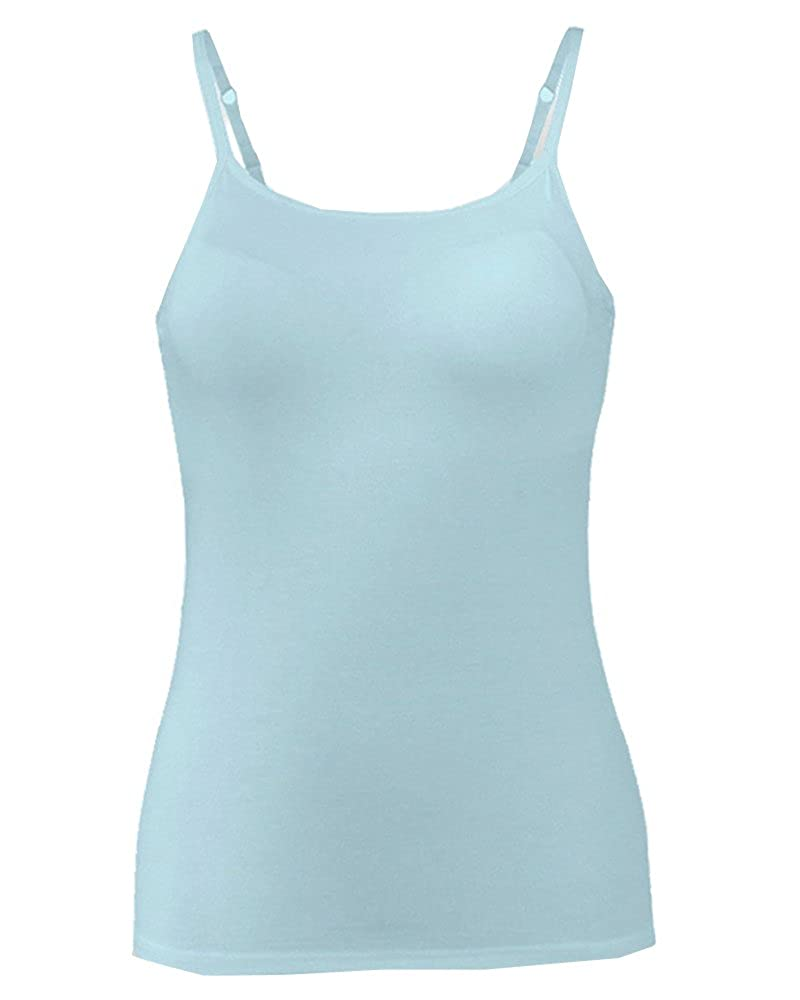 FOURSTEEDS Women's Cool Comfort Easy Wear Camisole Built in Bra Spaghetti Strap Top CHWABR0008