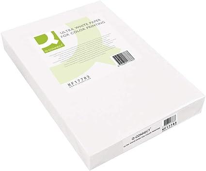 Q-Connect Papel Fotocopiadora Ultra White Din A4 100 Gramos Paquete De 500 Hojas: Amazon.es: Oficina y papelería